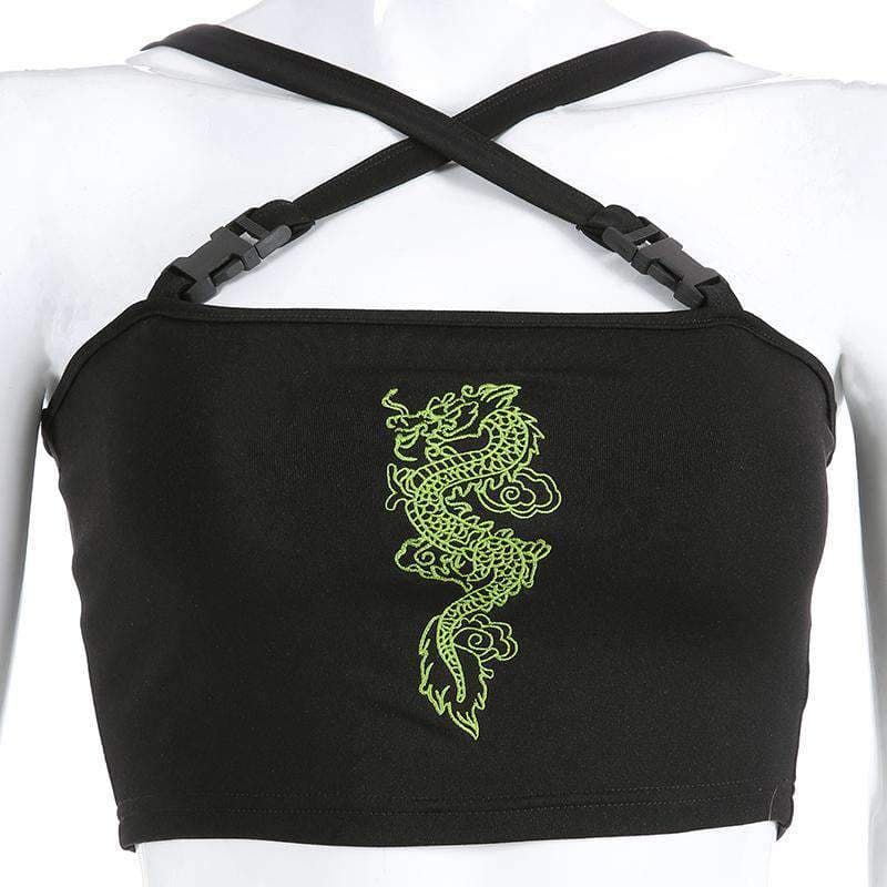 Dragon Buckle Top - LUX NOIRE