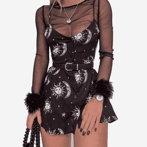 Astro Babe Dress - LUX NOIRE