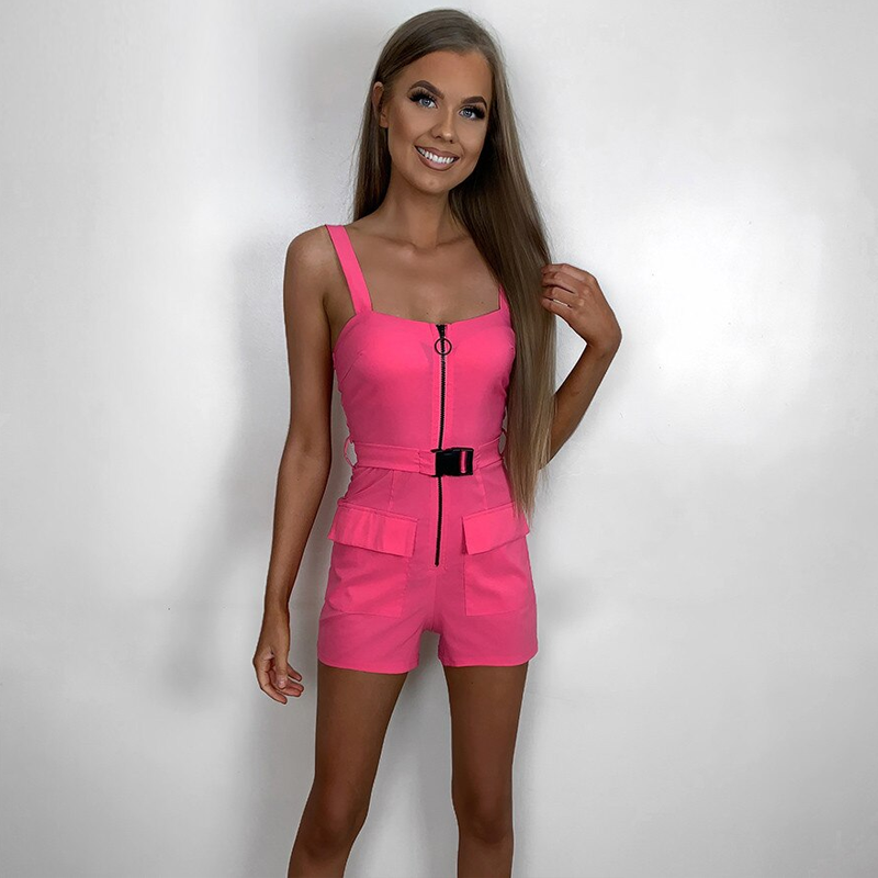 Neon Buckle Playsuit - LUX NOIRE