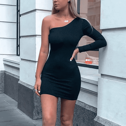 One Shoulder Dress - LUX NOIRE