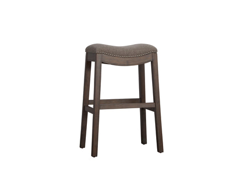 Hamilton Saddle Bar Stool - Weathered Grey Finish