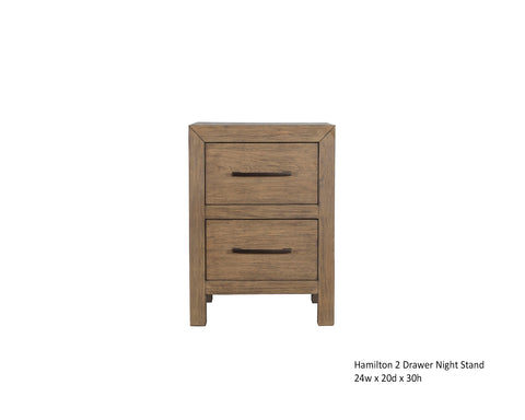 Hamilton 2 Drawer Night Stand