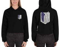 Survey Corps Attack on Titan Crop Hoodie