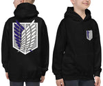 Survey Corps Attack on Titan Kids Hoodie - Geeks Pride