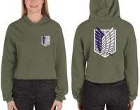 Survey Corps Attack on Titan Crop Hoodie - Geeks Pride