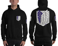 Survey Corps Attack on Titan Seelves Unisex Pullover Hoodie