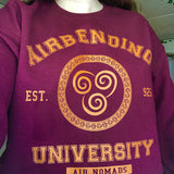 Airbending University Yellow Ink Unisex Sweatshirt