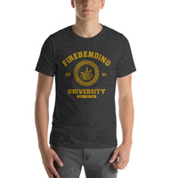 Firebending University Yellow Ink Short-Sleeve Unisex T-Shirt - Geeks Pride