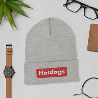Hotdogs Red Box Cuffed Beanie - Geeks Pride