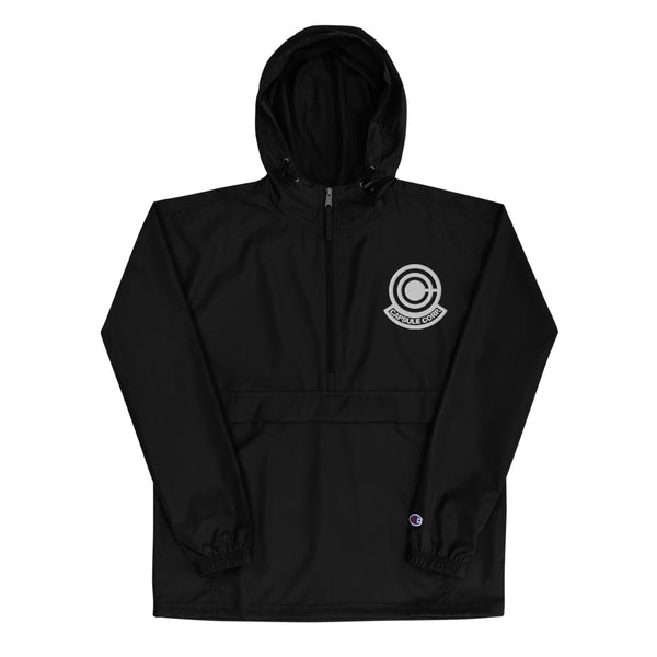 Capsule Corporation Embroidered Champion Packable Jacket - Geeks Pride