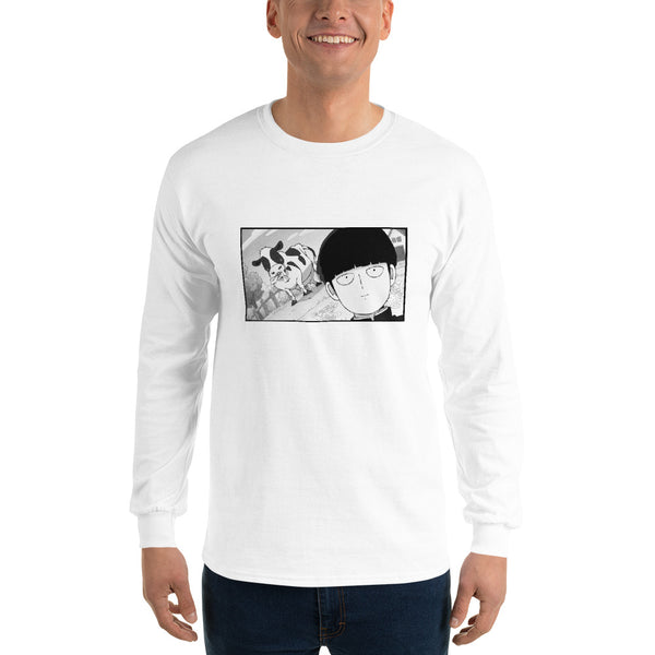 Mob Loves Milk Mob Psycho 100 Men's Long Sleeve Shirt - Geeks Pride