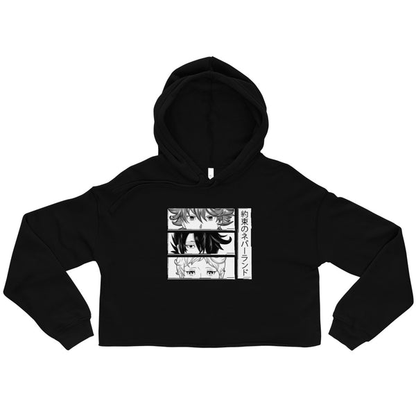 Emma Ray Norman The Promised Neverland Crop Hoodie - Geeks Pride