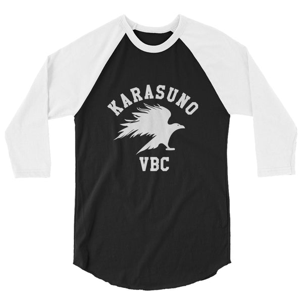 Karasuno High Volleyball Club VBC Haikyuu B 3/4 sleeve unisex raglan shirt - Geeks Pride