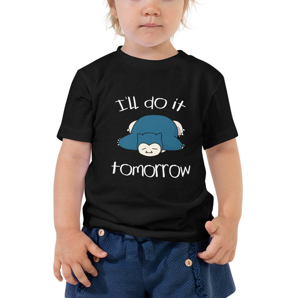 I'll Do It Tomorrow Snorlax Toddler Short Sleeve Tee - Geeks Pride