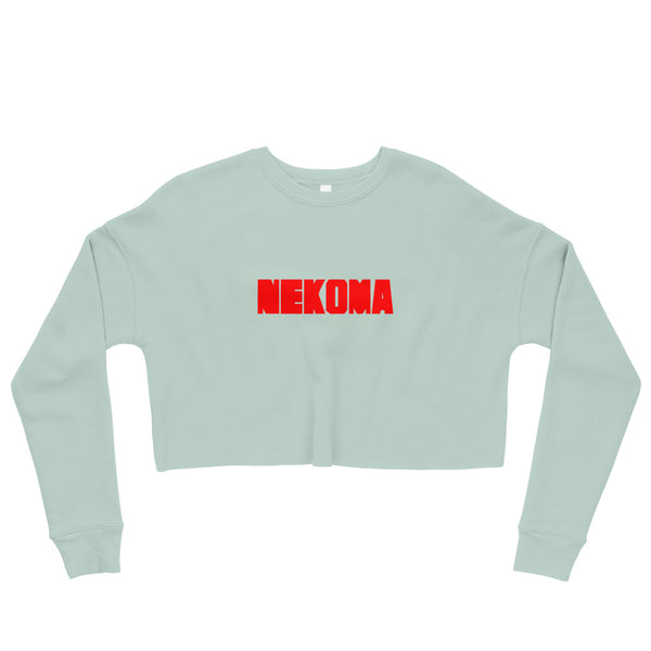 Nekoma High Volleyball Club Haikyu!! Red Crop Sweatshirt - Geeks Pride