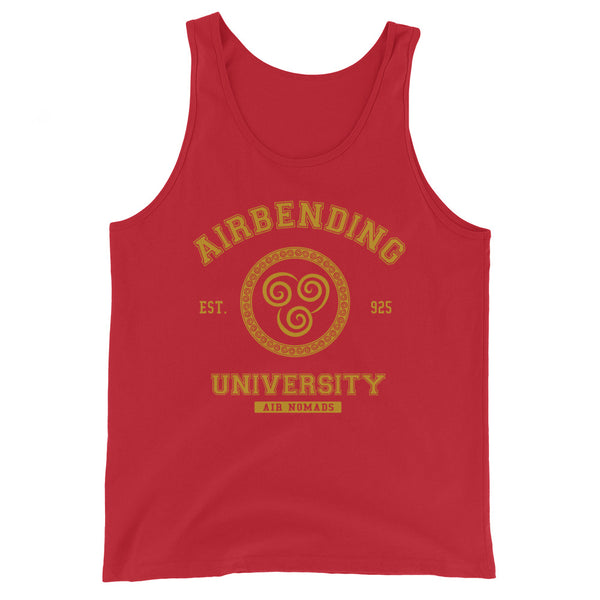 Airbending University Yellow Ink Unisex Tank Top - Geeks Pride