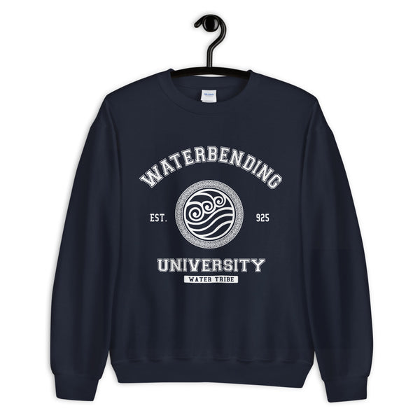 Waterbending University White ink Unisex Sweatshirt - Geeks Pride