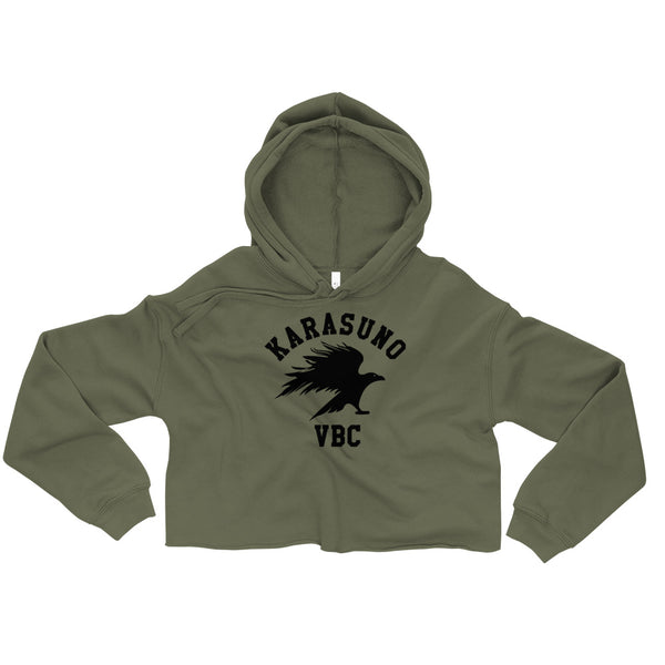 Karasuno High Volleyball Club VBC Haikyuu Crop Hoodie - Geeks Pride
