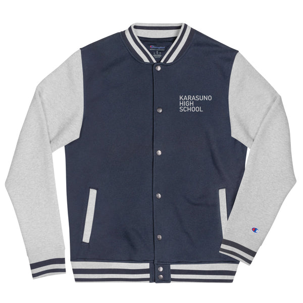 Karasuno High School Haikyuu Pocket W Embroidered Champion Bomber Jacket - Geeks Pride