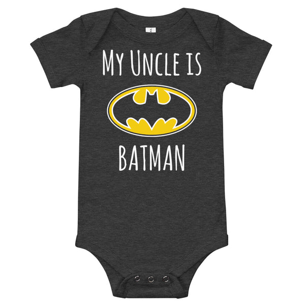 My Uncle Is Batman W Baby Jersey One Piece Onesie - Geeks Pride