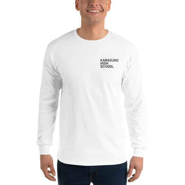 Karasuno High School Pocket Men's Long Sleeve Shirt - Geeks Pride