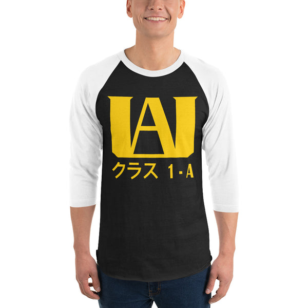 U.A. High School Class 1-A 3/4 sleeve raglan shirt - Geeks Pride