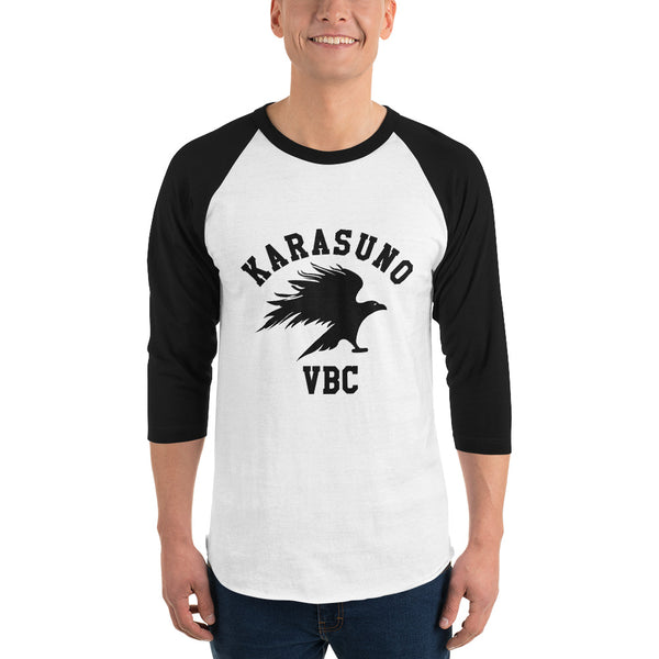 Karasuno High Volleyball Club VBC Haikyuu 3/4 sleeve unisex raglan shirt - Geeks Pride