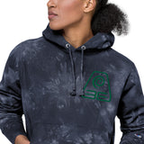Earthbender Embroidered Unisex Champion tie-dye hoodie