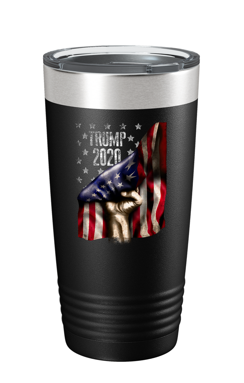 Flag Revealing Trump 2020 Color Printed Tumbler