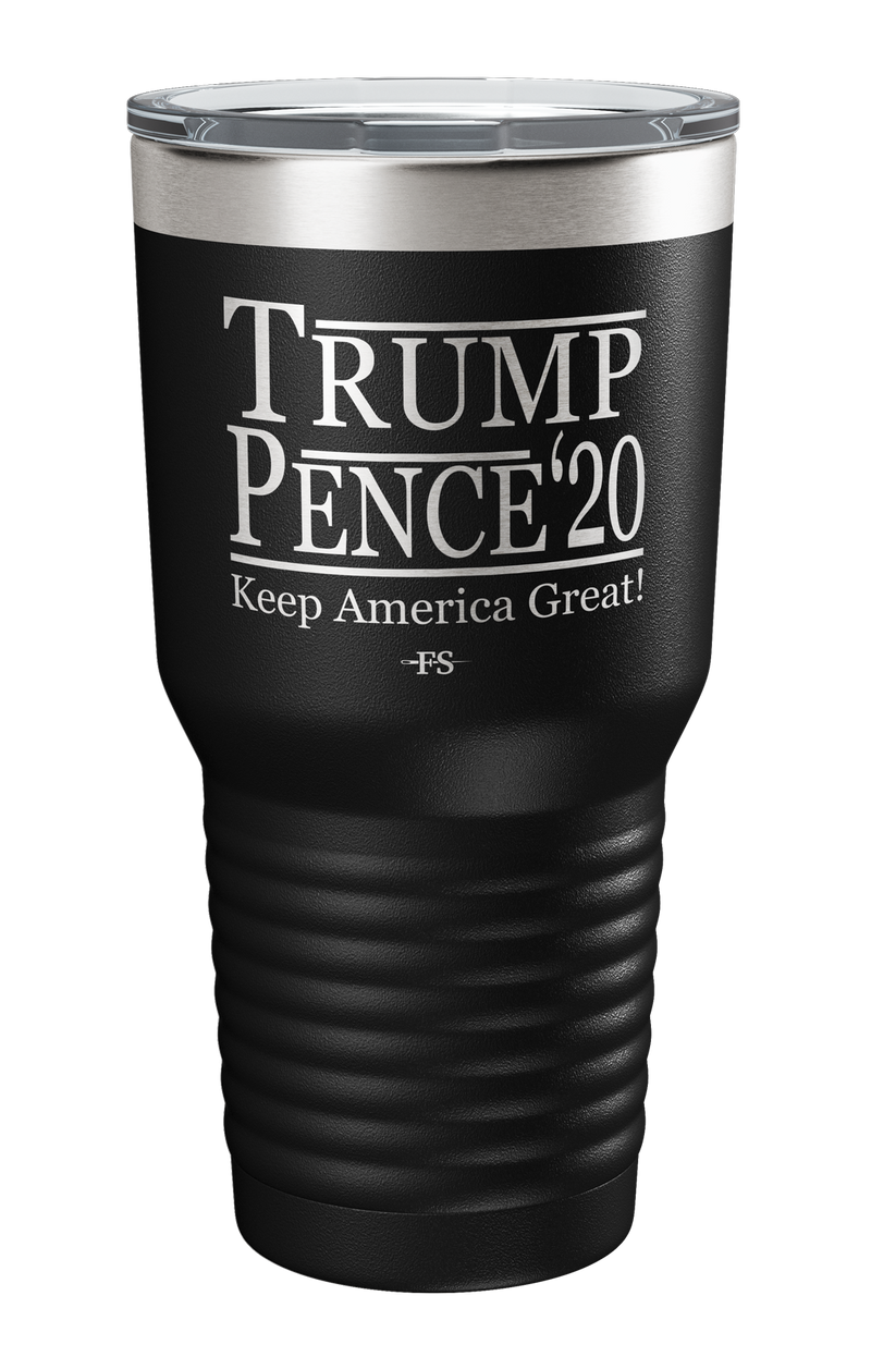 Trump Pence Keep America Great Laser Etched Tumbler