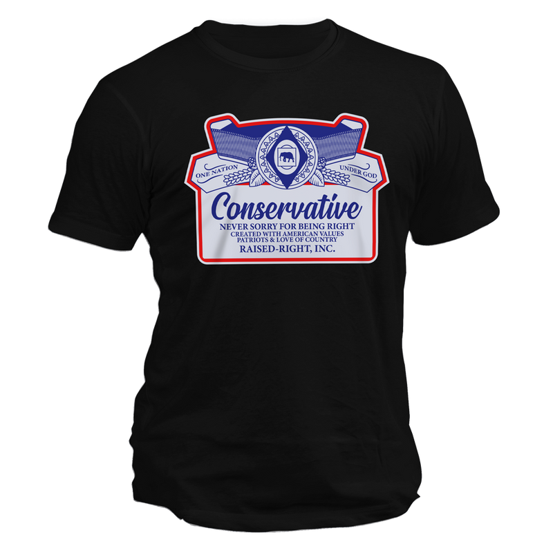 Conservative Never Sorry Tee