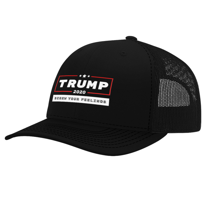 Trump 2020 Screw Your Feelings Hat (Red Line)