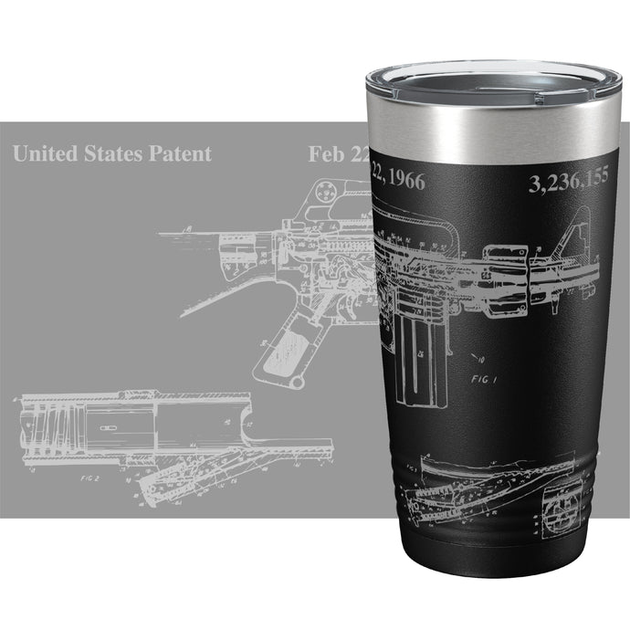 AR-15 Patent 360 Color Printed Tumbler