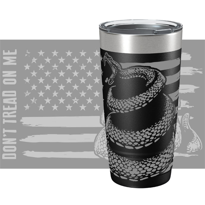 Don't Tread on Me Snake Color Printed Tumbler