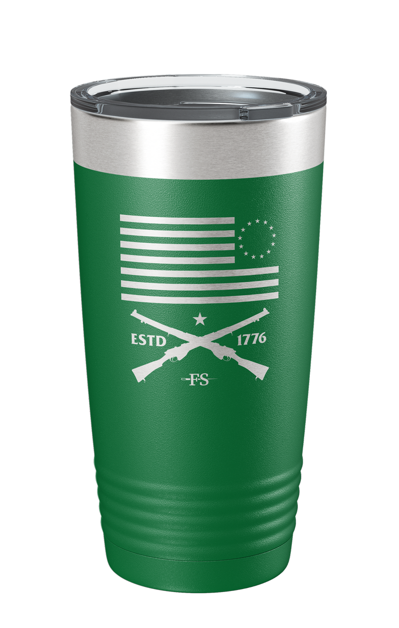 Betsy Ross Laser Etched Tumbler