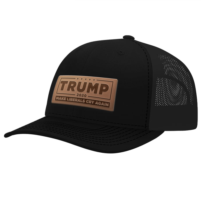 Leather Patch Trump 2020 Make Liberals Cry Again Hat
