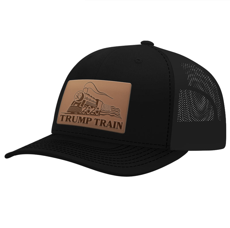 Leather Patch Trump Train Hat