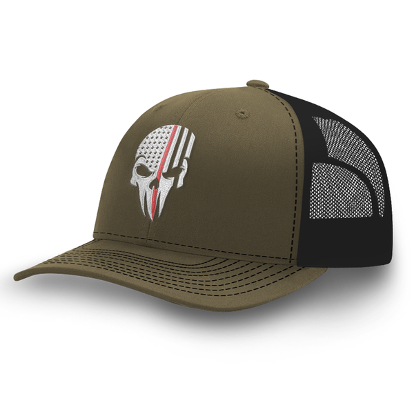 Thin Red Line Skull Hat