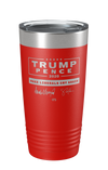 Trump/Pence Signature Edition Make Liberals Cry Again Laser Etched Tumbler (Red)