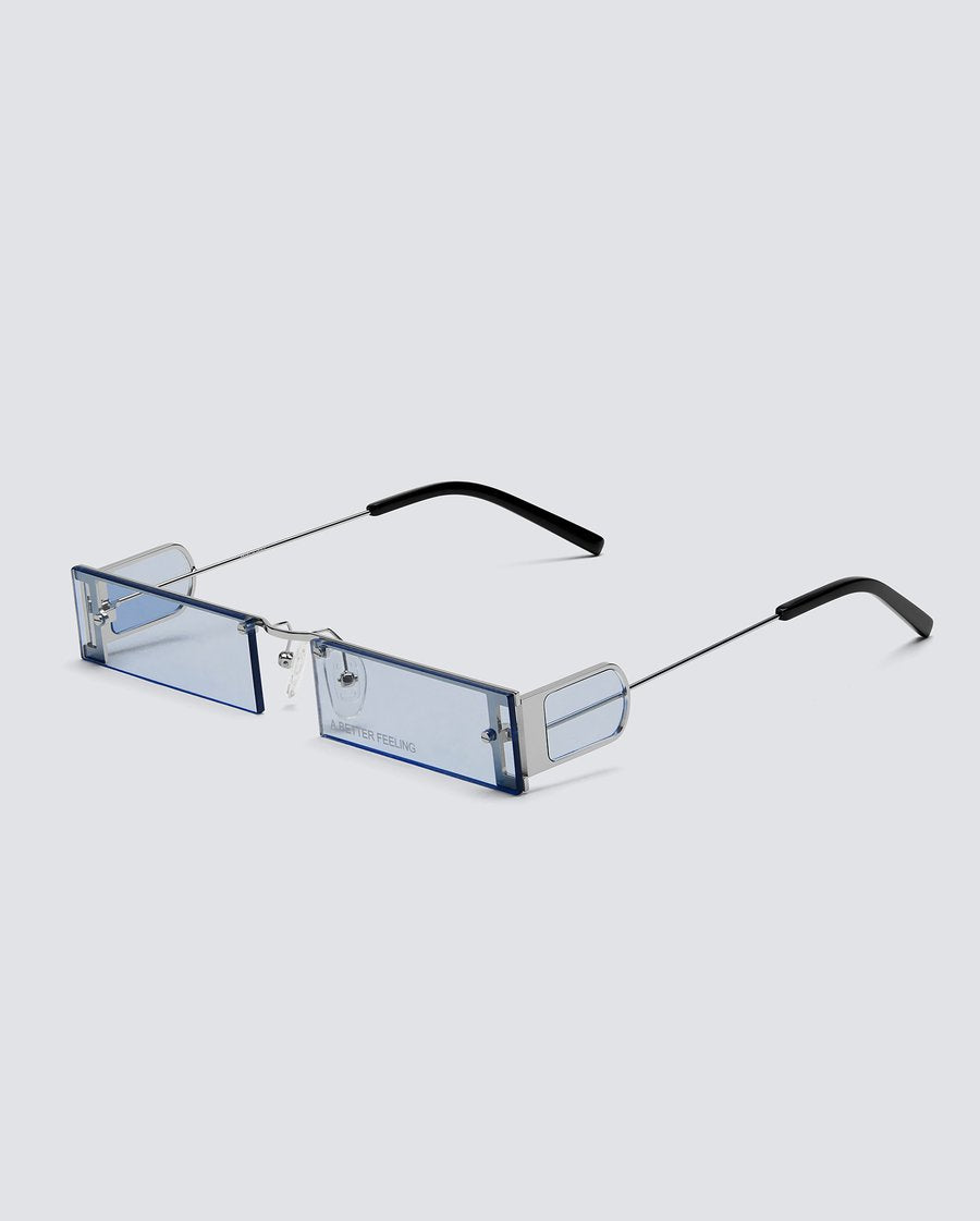 1EIGHTY Stainless Steel and Cloud Blue lenses