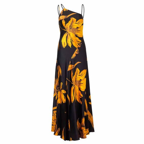Amber flowers maxi Outline