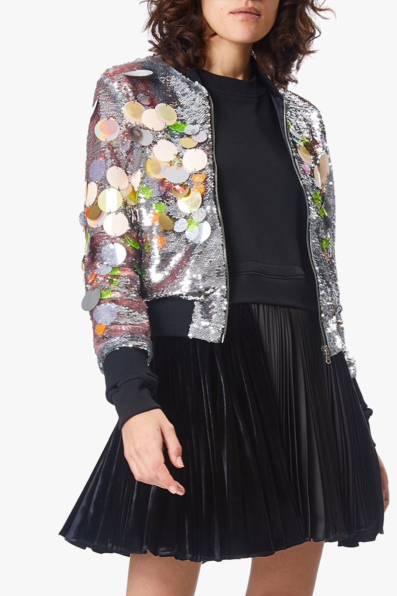 Mirage Sequin Bomber