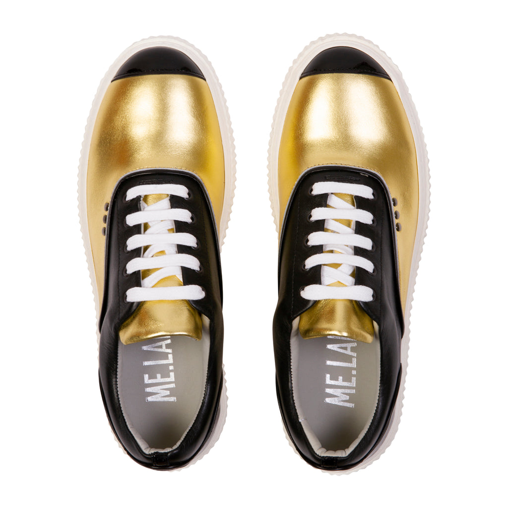 Meaker Veau Metal Shoes Gold/Black