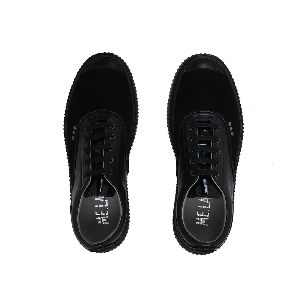 All Black Suede Meaker Shoes