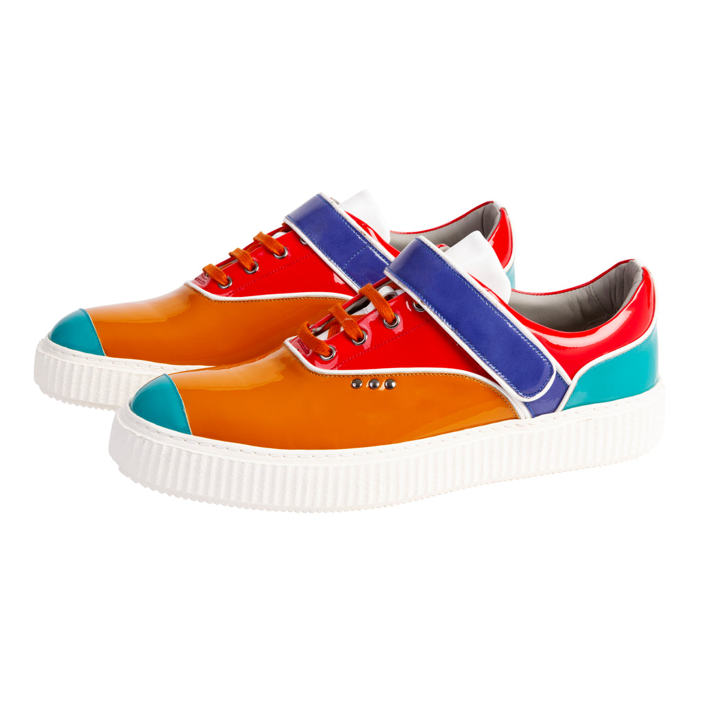 Beaker - Patent Clafskin Multicoloured Shoes