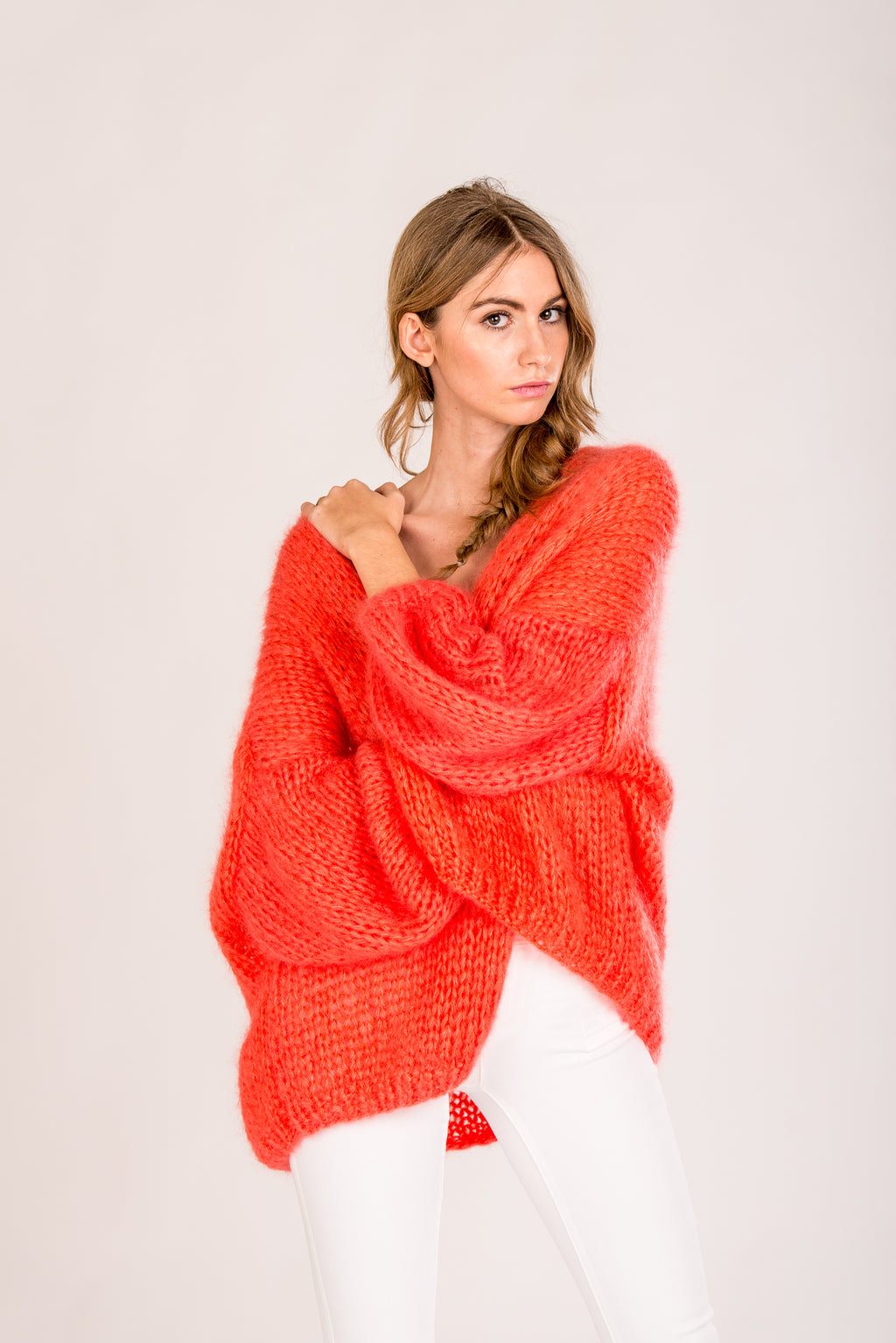 Cardigan Scandinavian Mob Orange One Size