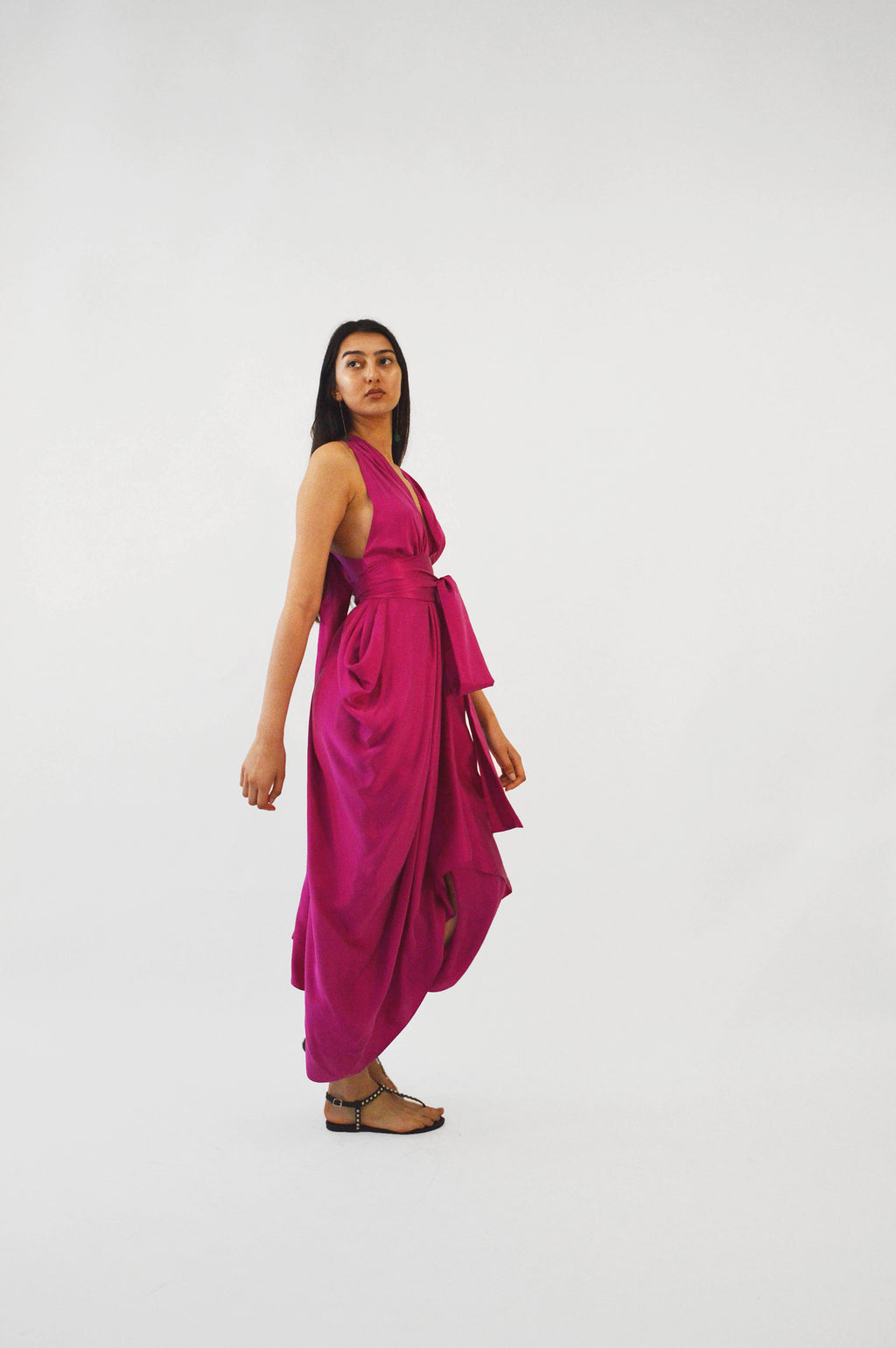 Hot Pink Silk Dress