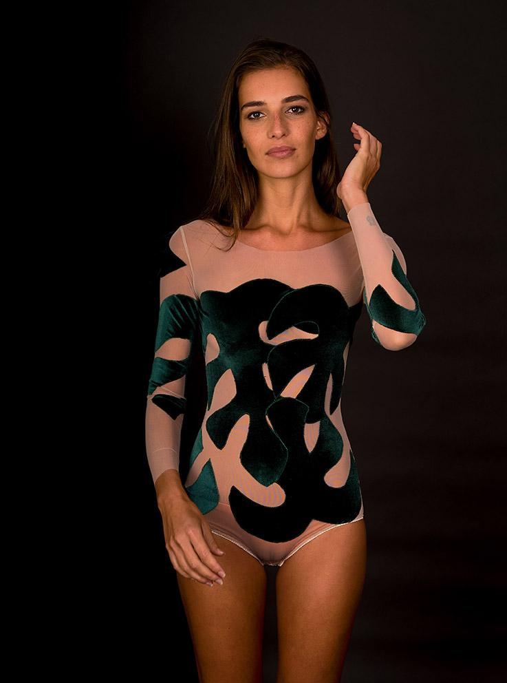 Green Leaves Bodysuit