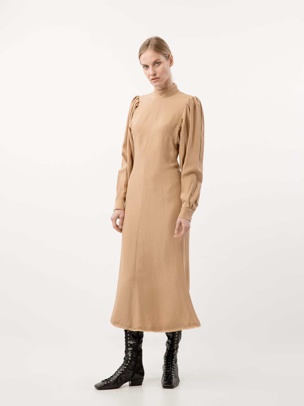 Silk Beige Dress