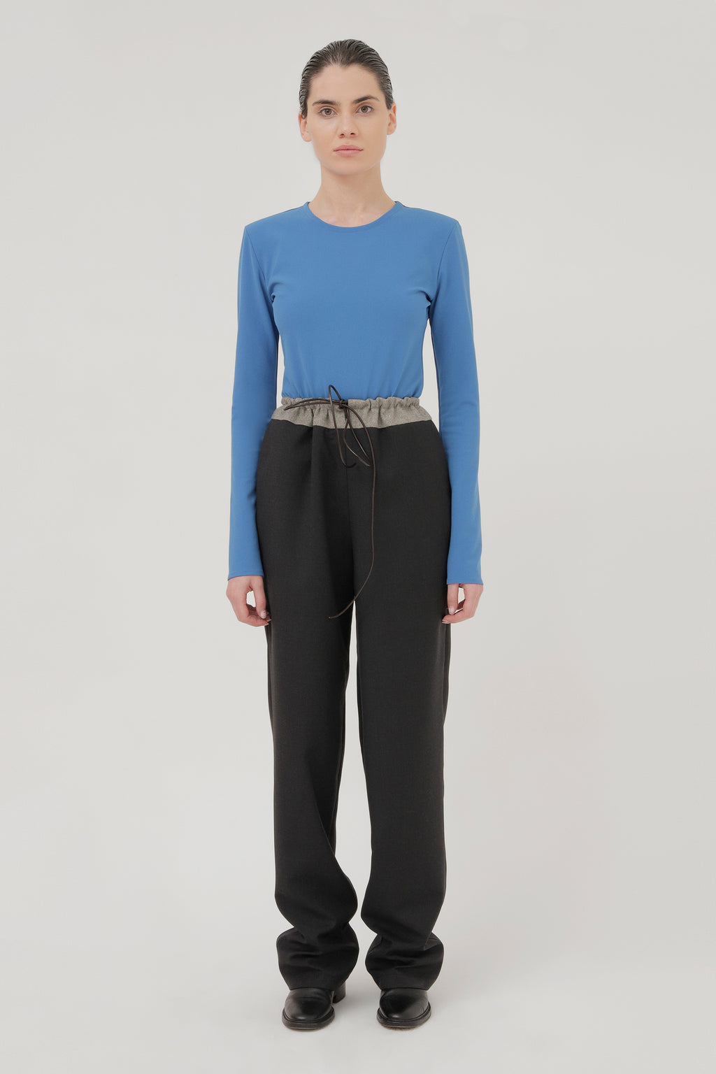 Black Trousers with Toggle